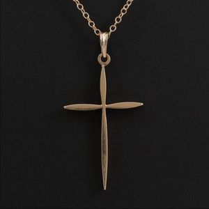 Jewelry - Vintage 14K Solid Gold Cross Necklace
